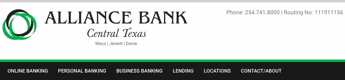 Alliance Bank Central Texas